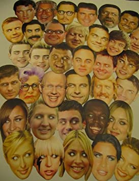 Face Masks Party Mask Hen Do Stag Celebrity Cardboard Actors Christmas Parties