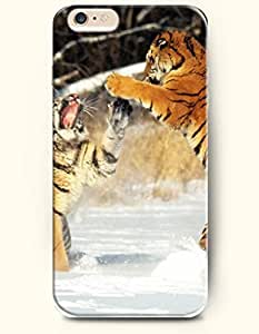 SevenArc Phone Case for iPhone 6 Plus 5.5 Inches with the Design of Tigers Playing with Each Other