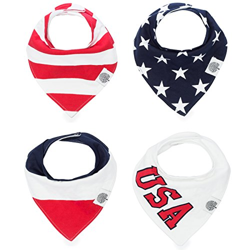 The Good Baby Bandana Drool Bibs – 4 Pack Baby Bibs for Boys, Girls, Unisex -