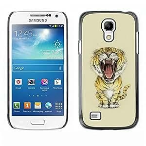 Estuche Cubierta Shell Smartphone estuche protector duro para el teléfono móvil Caso Samsung Galaxy S4 Mini i9190 MINI VERSION! / CECELL Phone case / / Meow Big Tiger Lion Cat /