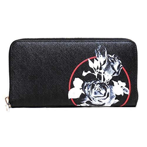 ディオール メン ファスナー長財布 Roses ブラック 2RDBC011XXS H03E Dior Homme B07PYY4K8M