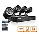 LaView 4 HD 720P Camera Security System, 4 Channel 720P HD-TVI DVR w/1TB HDD and 4 720P HD Black Bullet Surveillance Camera Kit