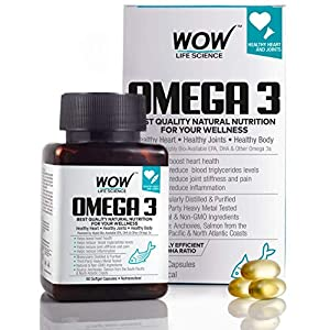 Best Omega-3 Fish Oil In India 2020 WOW Omega-3 (60 Capsule)