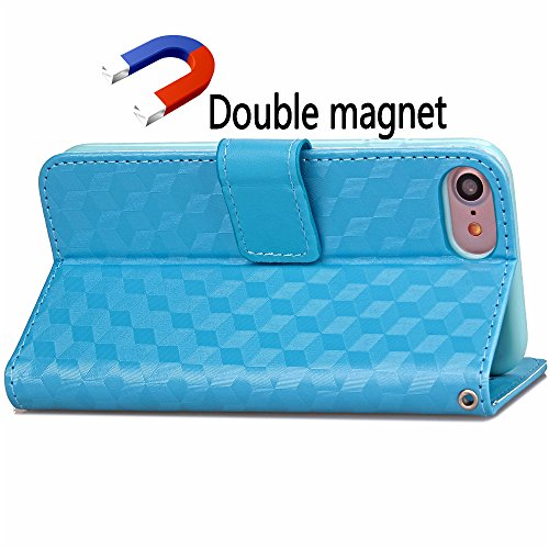 Funda Libro para iPhone 8,Manyip Suave PU Leather Cuero Con Flip Cover, Cierre Magnético, Función de Soporte,Billetera Case con Tapa para Tarjetas, Funda iPhone 8 D