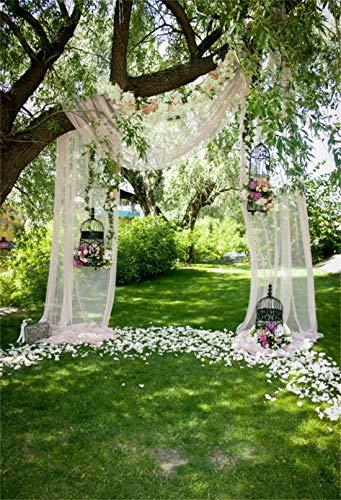 Yeele Wedding Backdrops 6.5x10ft Bouquet Archway Ceremony Bridal Shower Decoration Wedding Ceremony Outdoor Chiffon Adult Artistic Portrait Photoshoot Props Photography -