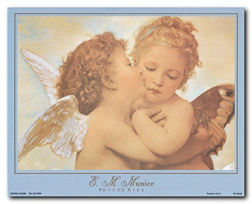 Wall Decor The First Kiss By William Adolphe Bouguereau Picture Art Print Poster (8x10)