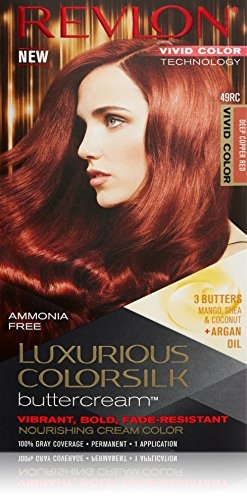 Revlon Luxurious Colorsilk Buttercream, Vivid Deep Copper Red