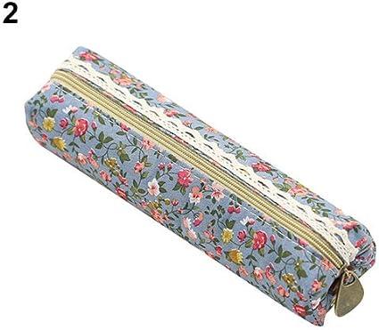 Hzb821zhup - Estuche para lápices, diseño de flores y encaje Light Blue: Amazon.es: Hogar