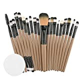 Kasien Makeup Brush, 20PCS Eyeshadow Brushes Set Foundation Cosmetic Eyebrow Eyeshadow Brush Makeup Brush Sets Tool Make-up Toiletry Kit (E)
