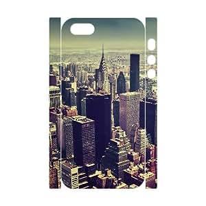 3D Jumphigh New York City Tilt Shift IPhone 5,5S Cases, [White]