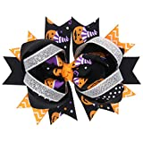 Gotd Baby Girls Halloween Bowknot Hairpin Headdres Gift Set (#1)