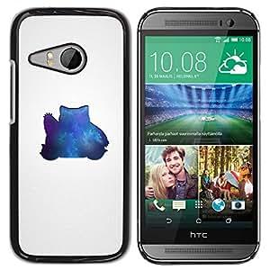 TaiTech / Prima Delgada SLIM Casa Carcasa Funda Case Bandera Cover Armor Shell PC / Aliminium - Azul Pekemon - HTC ONE MINI 2 / M8 MINI