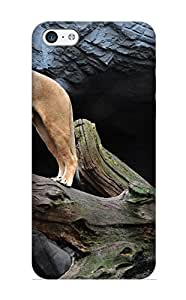 Bwwuem-3804-hzwsach Hot Fashion Design Case Cover For Iphone 5c Protective Case (animal Lion)