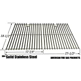 Stainless Cooking Grid for Charbroil 463248108, 463268007, 463268008, 463268606, 463268706, 466248108, 466268008, DCS 27 Series, 27ABQ, 27ABQR, 27BQ, 27BRQ Omaha B09PG2-4B and Members Mark B09PG2-4B Gas Grill Models, Set of 2