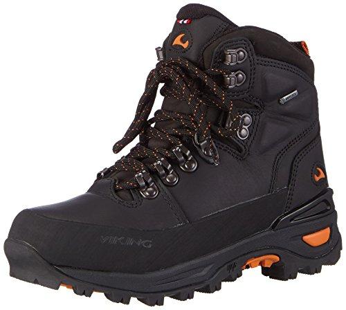 Viking Gaupe Leather GTX - zapatillas de trekking y senderismo de piel Unisex adulto negro - negro (negro/naranja 231)