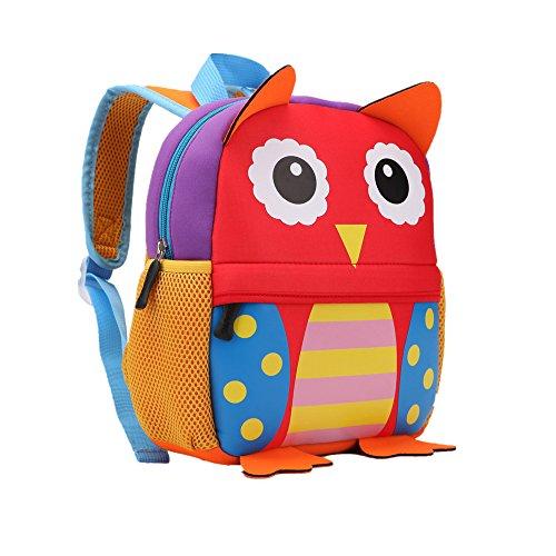 Teamen Children's School Backpack / Rucksack, Animal Design, for Children / Babies / Boys / Girls Toddlers / 2to 6Years Old, owl