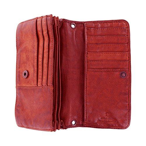 CL13995 sac porte en 10 à Design Bear cuir monnaie cm bandoulière Rouge tressé 17 3 lavée SvxwaCnq5B
