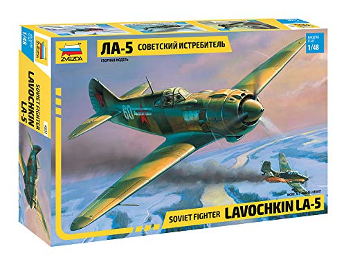ZVEZDA 4803 - Soviet Fighter LAVOCHKIN LA-5 - Plastic Model Kit Scale 1/48 151 Details Lenght 7