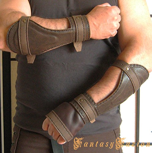 Costume Medieval Cosplay Riddick Forearm Warrior Armor Gladiator Leather (Riddick Halloween Costumes)
