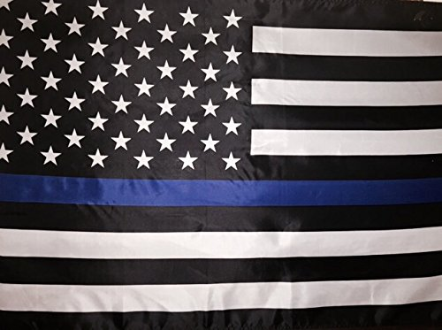 Thin Blue Line American Flag - 3 by 5 Foot Flag Honoring ...