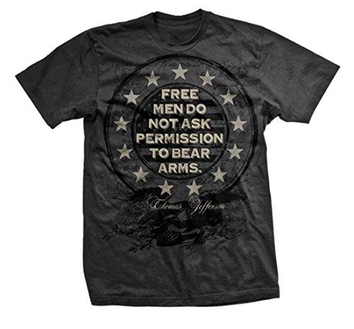 Free Men Don't Ask Permission T-shirt by Ranger Up, Patriotic, Second Amendment