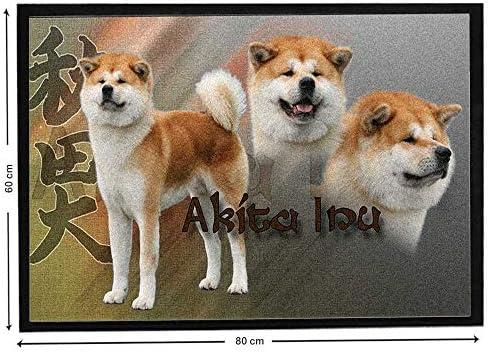 Pets easy Alfombra para Entrada de Perro nórdico de Akita