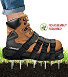 Osaava Lawn Aerator Shoes, Full Assembled Spiked Aerating Lawn Sandals with Adjustable 4 Straps for Aerating Your Lawn Greener and Healthier Garden or Yard - Sturdy Universal Size That Fits All