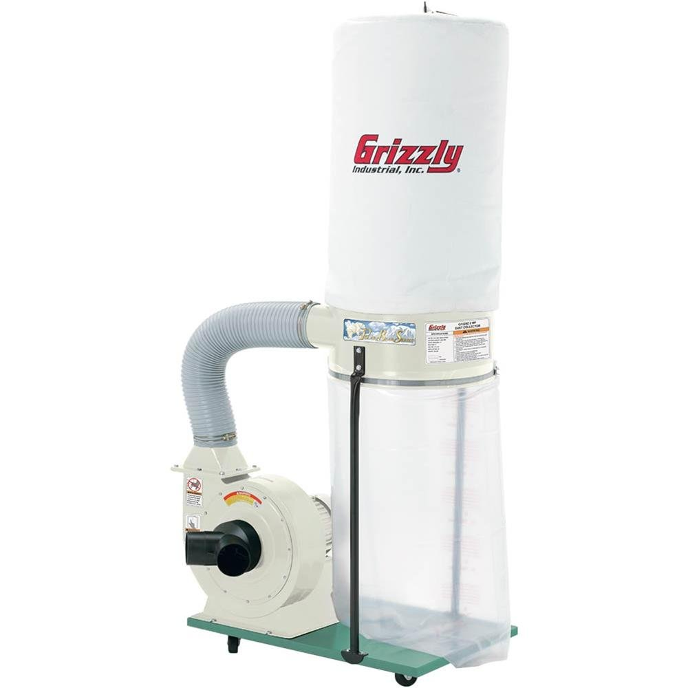 Grizzly G1029Z2P 2 HP Dust Collector with Aluminum Impeller, Polar Bear Series