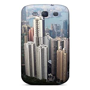 New UsogHXb7710BdYxG Hong Kong Skyscrapers Hd Wide Skin Case Cover Shatterproof Case For Galaxy S3