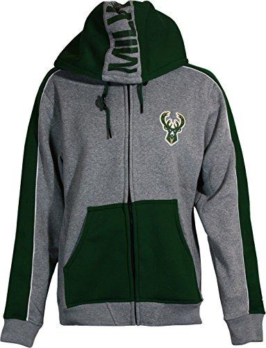 Zipway Milwaukee Bucks Hoodie, Grey/Green, Medium ()