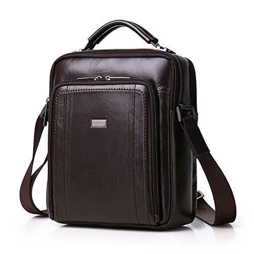 - Tacnhen Men Genuine Leather Leisure Handbag Crossbody Bag Shoulder Bag