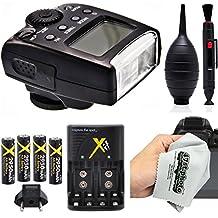 Opteka TTL Auto-Focus Dedicated Flash Speedlite (IF-500) and Battery Kit for Panasonic Lumix DMC G7, GX8, GM5, GH4, GX7, G6, GH3, GH1, GF1, GH2 and GF2 Micro Four Thirds Mirrorless Digital Cameras