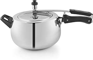 PNB Kitchenmate Pearl Aluminium Pressure Cooker, 3.5 litres, Silver