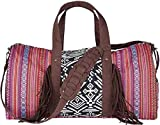 San Diego Hat Company Women's Ethnic Print Weekender Duffel Bag, Red, OS