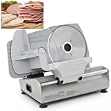 "DELLA 048-GM-48087 7.5"" Premium Electric Deli Meat Slicer Vegetable, Silver, Small"