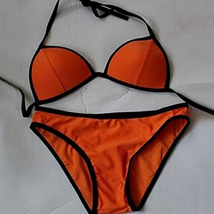 CHENXOXO Sexy, Western, apretado con sujetador elástico de acero y nylon no natación deportes acuáticos split ...
