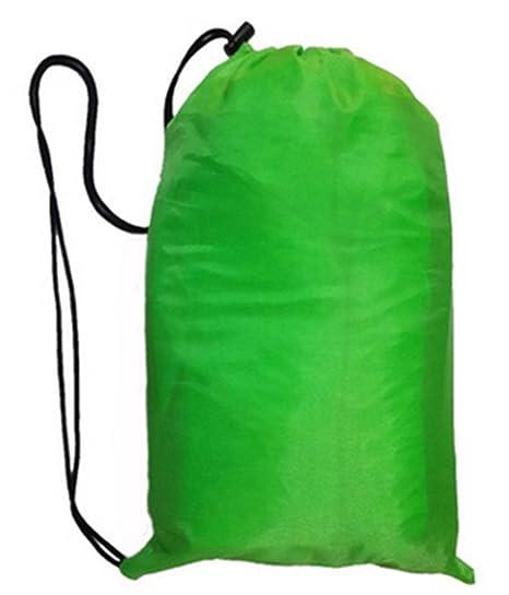 Rápido Saco de dormir hinchable camping cama playa hangout laybag Faule sofá verde