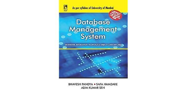 Amazon com: Database Management System (University of Mumbai