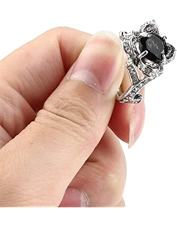 BSGSH Flower Cubic Zirconia CZ Anniversary Wedding Engagement Band Ring Sizes 6 to 12