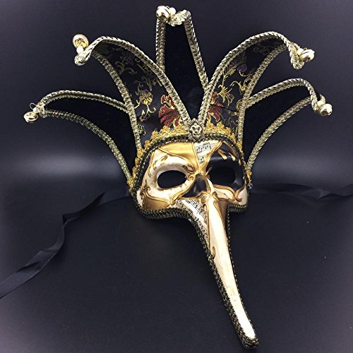 [Circle Circle Long Nose Venetian Masquerade Mask Cool Halloween Christmas Birthday Costume Cosplay Fashion Festival Party Show Masks] (Festival Street Dance Costume)