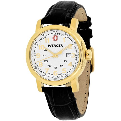 Wenger Women's 01.1021.109 Urban Classic 3H Analog Display Swiss Quartz Black Watch