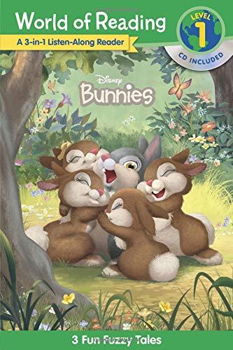 - World of Reading Disney Bunnies 3-in-1 Listen-Along Reader (Level 1): 3 Fun Fuzzy Tales