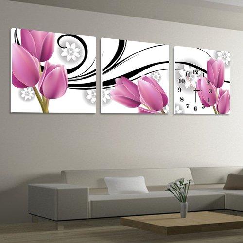 家庭の照明リビングルームベッドルームフレームレスペインティングウォールクロック、ベッドルームソファの背景壁画アートウォッチと時計、Dermatoglyphicメンブレンマット紙装飾的な壁時計 ( サイズ さいず : 40*40cm ) B071K8JV2Y 40*40cm 40*40cm
