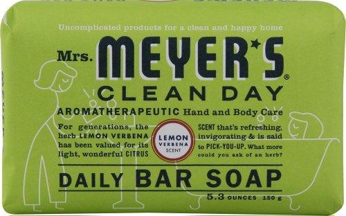Mrs. Meyer's Clean Day Bar Soap 5.3 Oz. Lemon Verbena Scent, 12-Pack