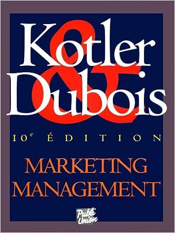 livre marketing management kotler dubois