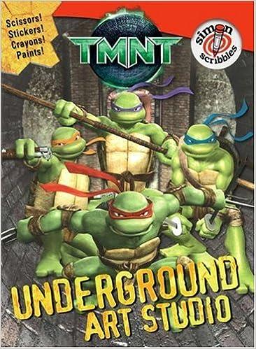 TMNT Underground Art Studio With StickersWith 5 CrayonsWith ...
