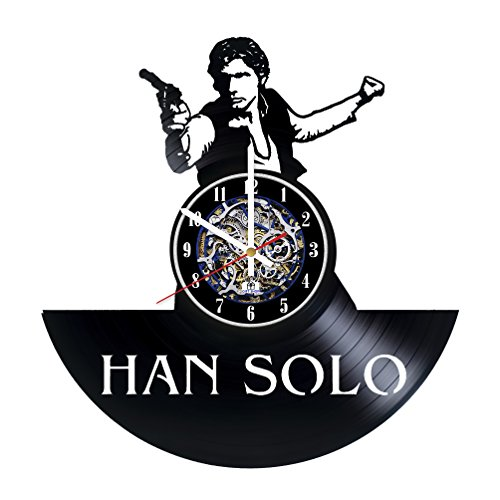 Han Solo Costume Carbonite (Fantasy Fictional Character Design Vinyl Record Wall Clock / Gift idea for boys and girls / Original living room wall decor / Unique Fantasy Movie Fan Art)