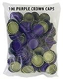Brew Caps 100 Purple Bottle Caps with Oxygen