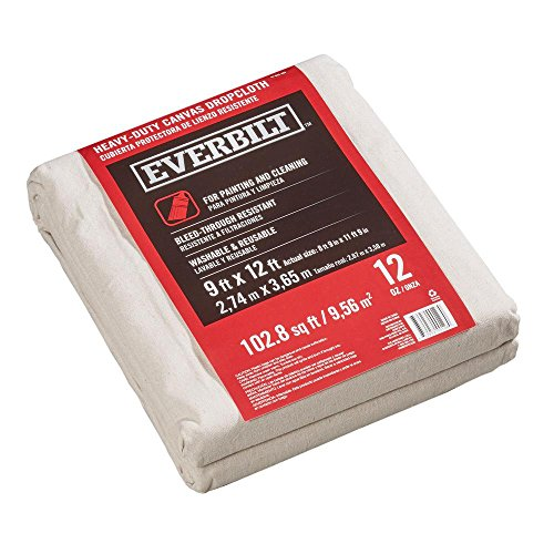 Everbilt 8 ft. 9 in. x 11 ft 9 in. 10 oz. Canvas Drop Cloth