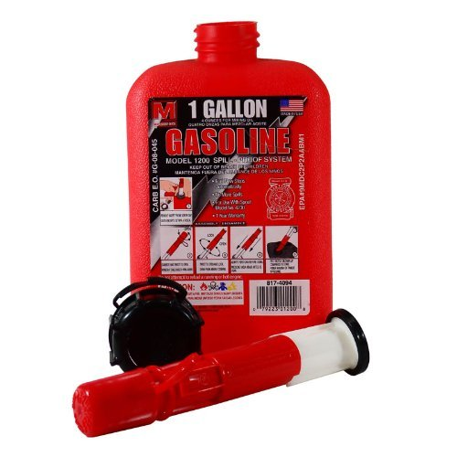 1 gallon gas can. 1 gallon portable gas can tank with spill-proof spout design and locking cap